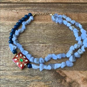 Jewelry - Rustic stone and bead necklace from India